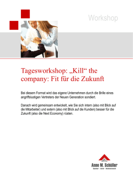 Neues Workshop-Format - Touchpoint Management