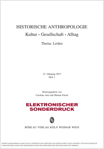 Historische Anthropologie, Band 23,1 (2015)