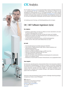 C# / .NET Software Ingenieure (m/w)