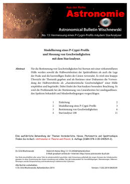 Astronomical Bulletin Wischnewski