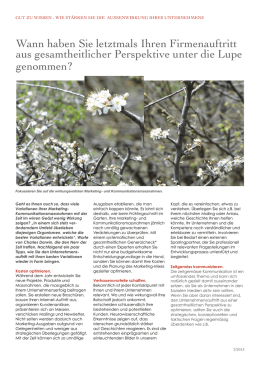 Artikel - Generalcheck - QPM Marketing Services