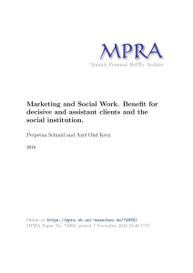 Marketing and Social Work. Benefit for decisive and assistant clients