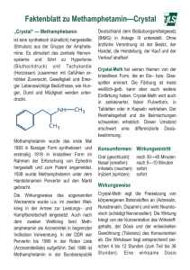Faktenblatt zu Methamphetamin—Crystal
