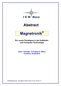 Abstract Magnetronik