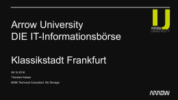 Arrow University DIE IT-Informationsbörse Klassikstadt Frankfurt