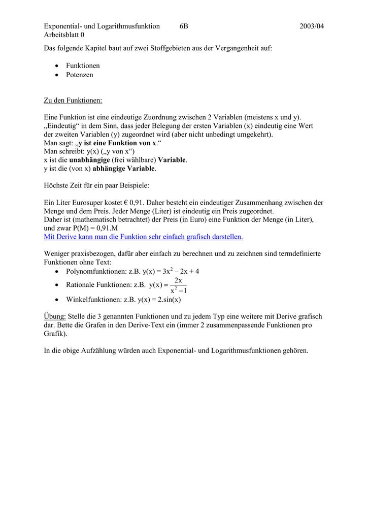 Arbeitsblatt0 - Mathe