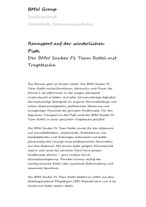 BMW (Schweiz) AG Presse - BMW press release