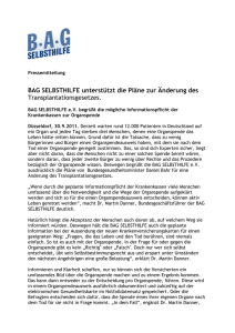 Pressemittelung - BAG Selbsthilfe