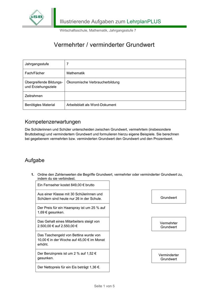 Illustrierende Aufgaben zum LehrplanPLUS