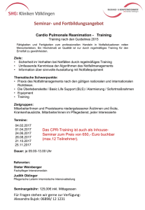 Cardio Pulmonale Reanimation - Training - SHG