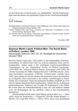 Seymour Martin Lipset, Political Man: The Social Basis of Politics