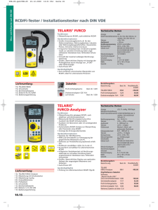 TELARIS® FI/RCD-Analyzer