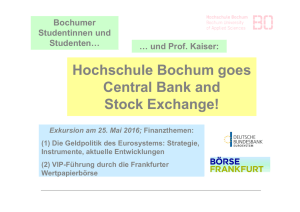 Hochschule Bochum goes Central Bank and Stock Exchange!