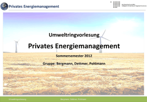Privates Energiemanagement
