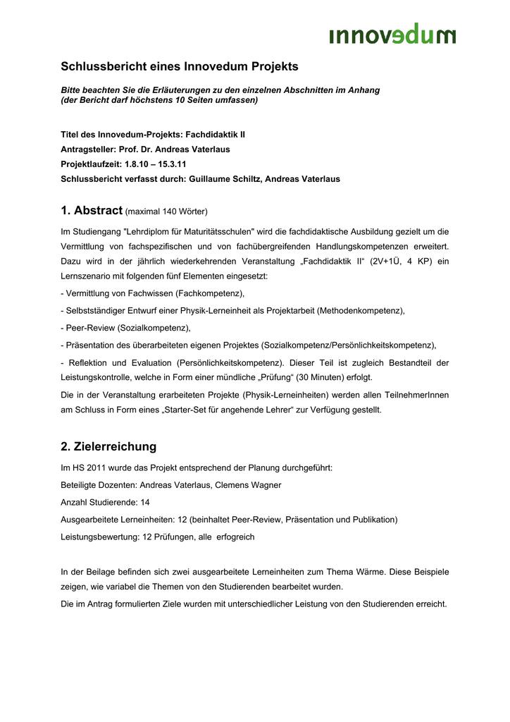 Abschlussbericht
