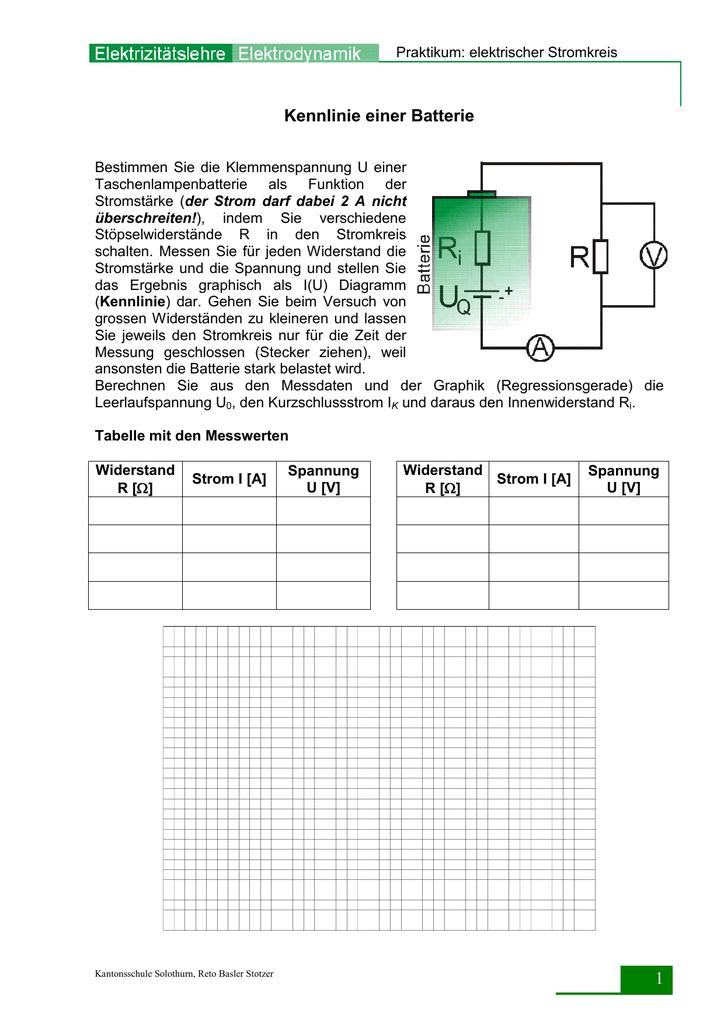 Großartig Batteriesymbol Im Stromkreis Bilder - Der Schaltplan ...