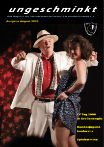 Ausgabe August 2008 - Verband Hessischer Amateurtheater eV