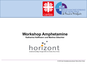 Workshop Amphetamine - Drogenhilfe Horizont
