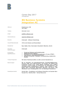 BSI Business Systems Integration AG
