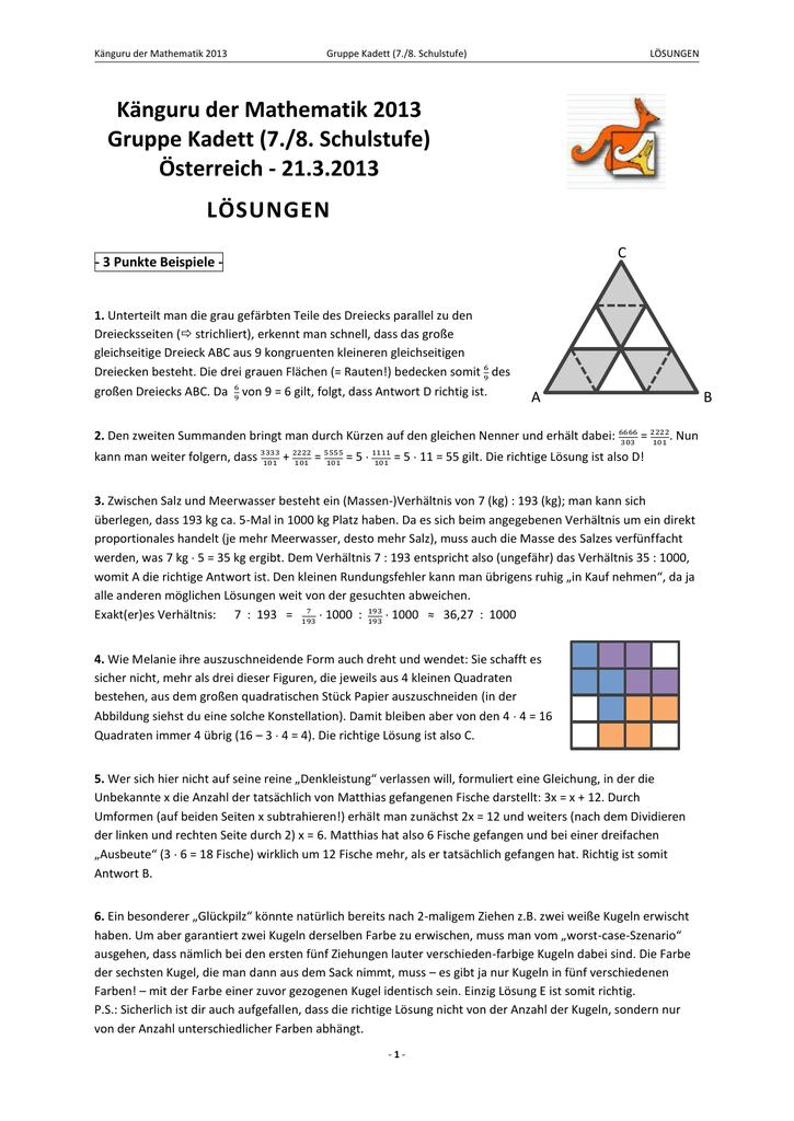 Charmant Mathematisches Problem Mit Lösung Und Antwort ...