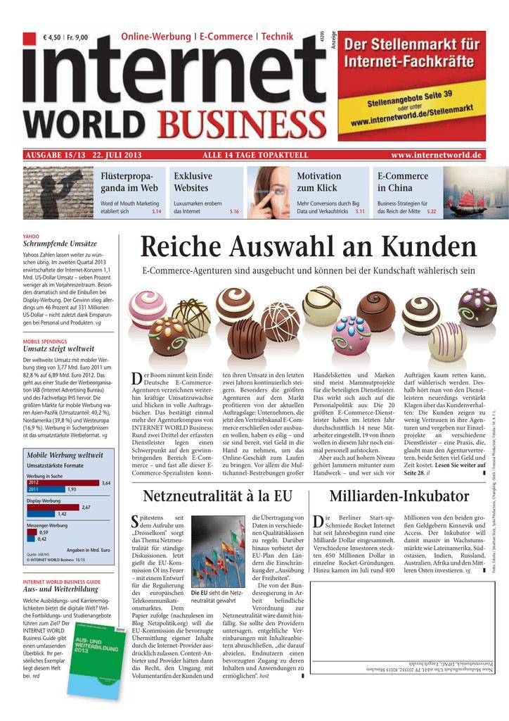 Heftarchiv Internet World Business