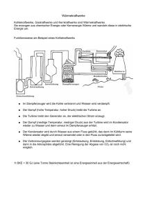 einfache dampfkraftanlage siehe aufg 6 2 1. Black Bedroom Furniture Sets. Home Design Ideas
