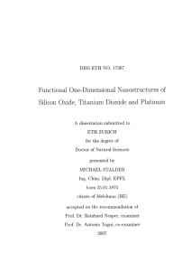 Silicon Oxide, TitaniumDioxide and Platinum - ETH E