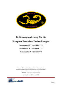 Bedienungsanleitung - Scorpion Power System
