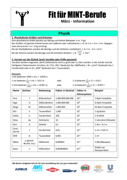 Physikinformationsblatt