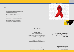 Flyer Aidsberatungsstelle