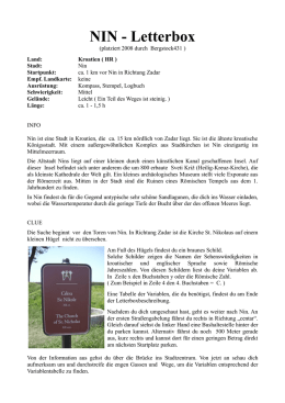 NIN - Letterbox - Letterboxing Germany