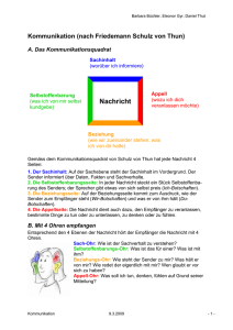 Referat Kommunikation Handout