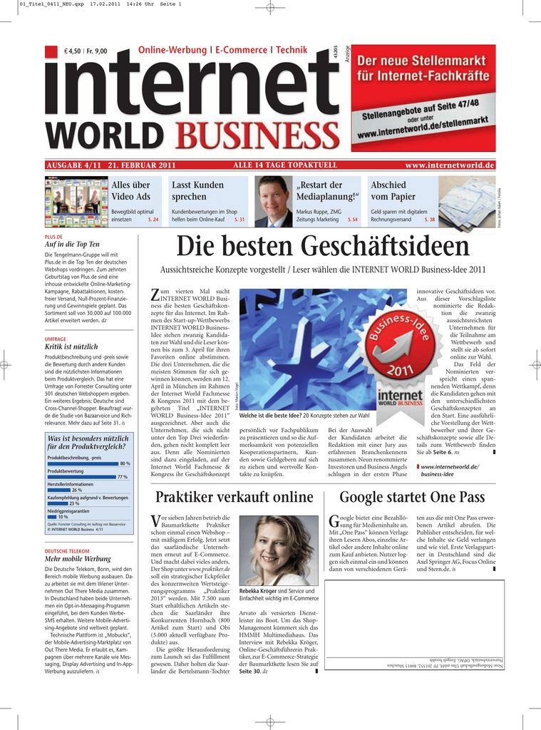 9ecf9522dd5c0d - Heftarchiv - Internet World Business