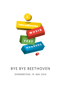 bye bye beethoven - Internationales Musikfest Hamburg
