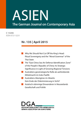 Nr. 135 | April 2015 - ASIEN – The German Journal on