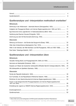 Quellenanalyse und -interpretation methodisch