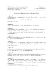 lineare algebra ubungsblatt 1 vektorrechnung. Black Bedroom Furniture Sets. Home Design Ideas