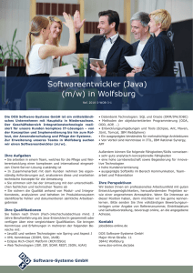 Softwareentwickler (Java) (m/w) in Wolfsburg