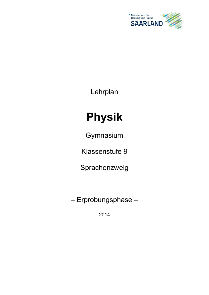 Physik Klasssenstufe 9