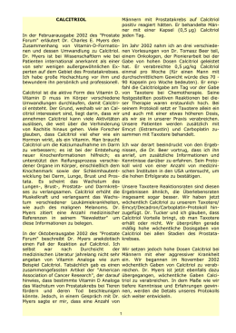 "CALCITRIOL In der Februarausgabe 2002 des ""Prostate Forum"