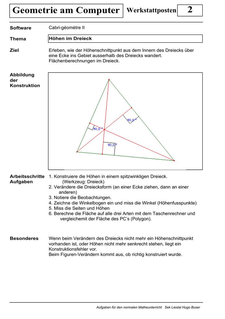 2 Geometrie am Computer Werkstattposten