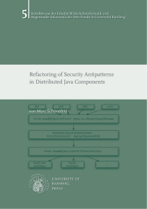 Refactoring of Security Antipatterns in Distributed Java