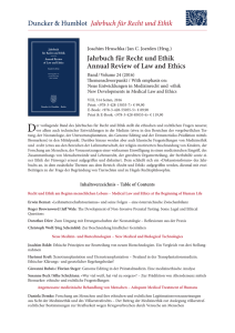 Jahrbuch für Recht und Ethik Annual Review of Law and Ethics