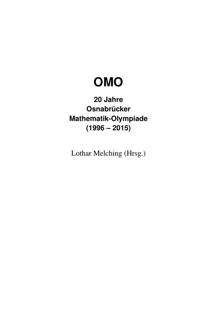 OMO-Chronik - Lothar Melching