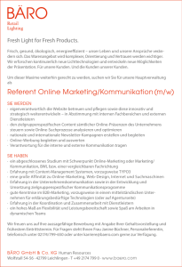 Referent Online Marketing/Kommunikation (m/w)