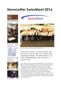 NewsLetter SwissMeet 2016