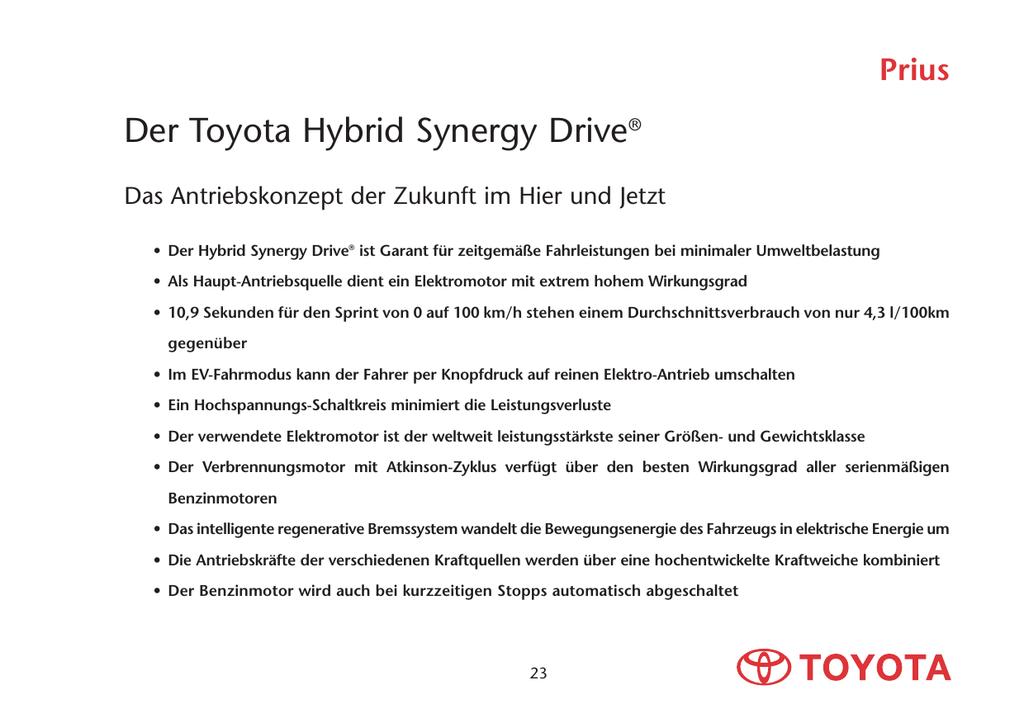 Der Toyota Hybrid Synergy Drive®