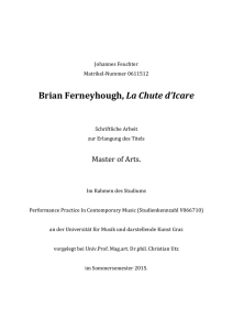 Brian Ferneyhough, La Chute d`Icare