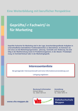 r Fachwirt/-in für Marketing