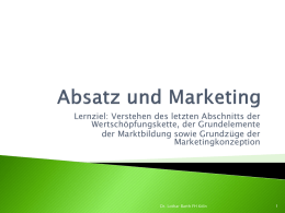 Absatz und Marketing